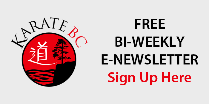 Karate BC E-Newsletter Sign Up